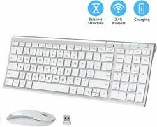 iClever Bluetooth Keyboard and Mouse Combo 2.4G Portable Wireless Keyboard Mouse