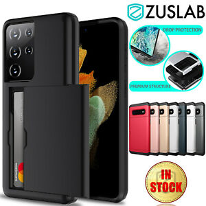 For Samsung Galaxy S21 S20 Plus Ultra S10 E S9 S8 Note 9 Case Wallet Card Holder