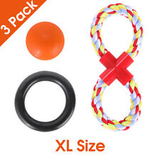 Ball   Teething Ring   Rope Dog Toys Set for XL Aggressive Chewers USA stock