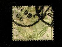 Great Britain stamp #106, used, Queen Victoria, 1883 - 84, 9p green, SCV $475