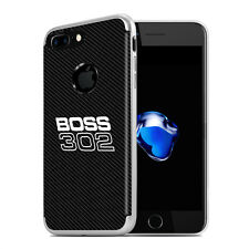 iPhone 7 Case, Ford Mustang Boss 302 Shockproof Black Carbon Fiber Texture Case