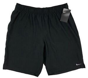 Men's NIKE Black Athletic Shorts Swim Trunks L Large NWT NEW Green Lining WoW!