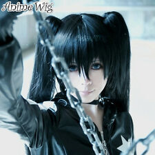 Cosplay anime Wig disfraces perück zatsune Miku Black rockshooter negro liso