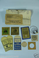 Vintage Watch Parts Envelopes - Waltham, Marco, BlackShield, Illinois, Elgin
