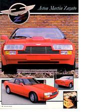1986 ASTON MARTIN ZAGATO  ~  CLASSIC ORIGINAL 2-PAGE PRINT AD