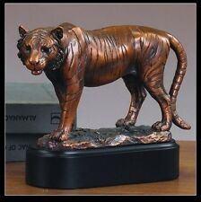 Regal Tiger 8.5 x 6.5 Great Detail Beautiful Bronze Statue / Sculpture