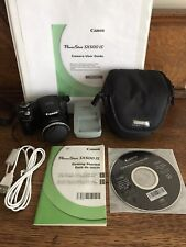 Canon PowerShot SX500 IS 16.0MP Digital Camera w/User Guide in Binder