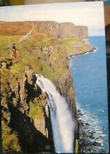 Scotland The Kilt Rock Falls Isle of Skye - posted 1983