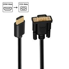 Hdmi To Vga Gold-Plated Hdmi To Vga Cable (Male To Male) For Computer/Pc/Laptop