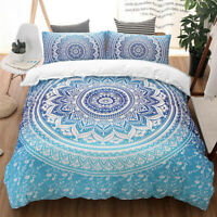 Blue Mandala Duvet Cover Set for Comforter Twin/Full/Queen/King Size Bedding Set