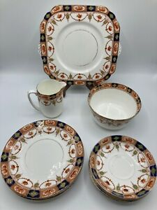 Vintage Gladstone China G.P & Co 15 Piece Imari Style Tea Set
