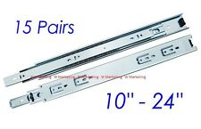 "15 Pairs 10""-24"" Full Extension 100-lb Ball Bearing Drawer Slides Slider SL02"