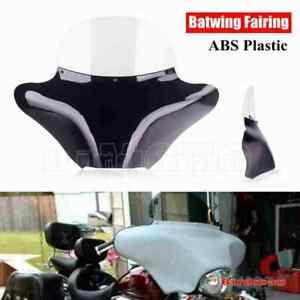 Black Front Outer Batwing Fairing For Honda Shadow Yamaha Dragstar V-Star Suzuki