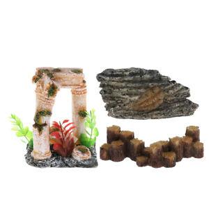 Turtle Hideouts Vivarium Reptile Lizard Hide Aquarium   Tank Cave Toy