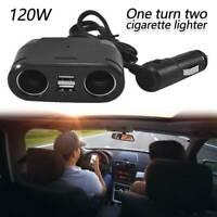 Chargeur voiture double USB 2 voies 12V prise allume-cigare répartiteur adapt DE