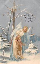 """He is Risen"" Religious, Winter, Fantasy, Angel 1906"