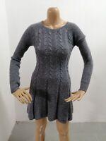 Vestitino HOLLISTER Donna Taglia Size S Dress Woman Pull Femme Maglia Nylon 7312