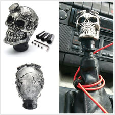 Titanium Color Skull Head Car Truck Vehicles Manual Transmission Gear Shift Knob