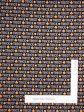 Halloween Trick Treat Pumpkin Word Cotton Fabric Riley Blake Ghouls Goodies Yard
