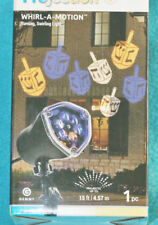GEMMY WHIRL-A-MOTION PROJECTION DREIDEL TURNING, SWIRLING LIGHT - NEW IN BOX
