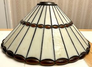 """Tiffany Style Mission Stained Glass Hanging Pendant Light Lamp Shade ONLY 16""""x7"""""""