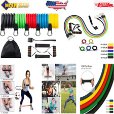 Resistance Bands Set Portable Home Gym Accessories with Door Anchor, Handles Us
