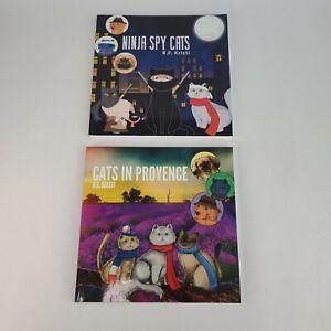 Cats in Provence + Ninja Cat Spy Inca Book Series by R.F. Kristi Paperback Books