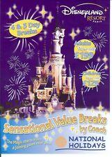 National Holidays Eurodisney Disneyland resort Paris 4side brochure France coach