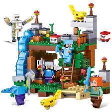 4 in 1 Minecraft series 378pcs minifigure building blocks fit lego kids toy MOC