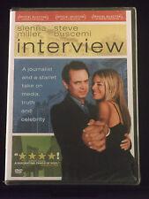 interview (DVD 2007 Widescreen) NEW R Steve Buscemi, Sienna Miller