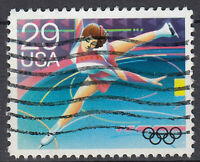 USA Briefmarke gestempelt 29c Olympia Sport Eislauf Eiskunstlauf / 3765