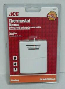 ACE 42350 White Thermostat Manual Heating Only 24 Volt BRAND NEW Free Shipping