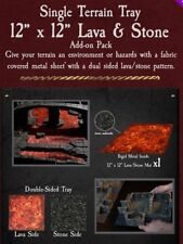 "Dwarven Forge 12"" X 12"" LAVA/STONE METAL TRAY ADD-ON Dungeons of Doom 2018 D&D"