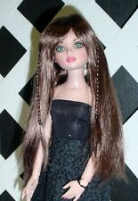 """Doll Wig, Monique """"Karley"""" Size 6/7 in Brown Black (Brown color) (NEW!)"""