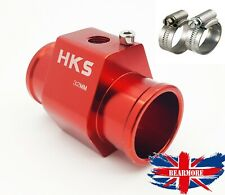 32MM Water Temperature Temp Sensor Gauge Radiator Hose Joint Pipe Adapter 1/8NPT