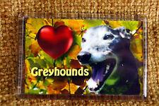 Black Greyhound Gift Dog Fridge Magnet Birthday Gift % to Greyhounds Charity