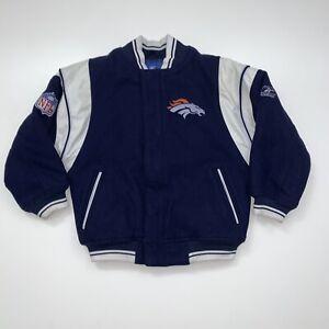 KIDS Denver Broncos Varsity Jacket Size Youth Small NFL Football