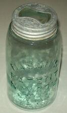 Antique Mason's Patent Nov. 30th 1858 Lt. Green Color Quart Size Jar #223 26 67