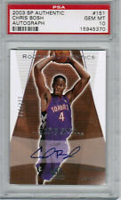 2003-04 Sp Authentic Chris Bosh Auto RC GRADED PSA 10 #104/500 TORONTO RAPTORS
