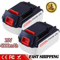 LBX20 20V 4.0Ah Max Lithium Ion Replace for Black and Decker 20V Battery 2 PACKS