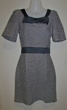 HI THERE from KAREN WALKER Navy & White Striped Dress Size 8 Small S RRP:$179.95