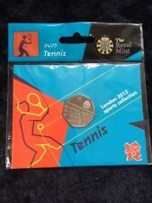 50p Olympic Coin TENNIS London 2012 FIFTY PENCE COIN in Original Card SEALED