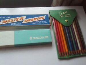 Lakeland Cumberland Colour/Staedtler Rasor/Master Drawing Lot 37 Pencils Vintage