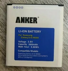 Anker 2600mah Rechargable Battery For Samsung Galaxy S4 I9500