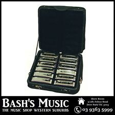 Johnson OB12MJ Set of 12 diatonic Blues King Harmonicas 12 Keys with Case - NEW