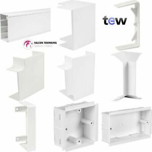 Cable Trunking MCT100 100mm x 50mm Bends, Tees, Couplers, Ends, Dividers, Box's