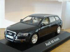 MINICHAMPS AUDI A6 AVANT ESTATE BLACK CAR MODEL 501.04.062.33 1:43