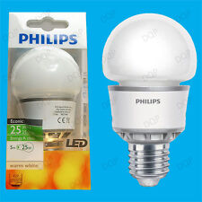 2x 5W Philips LED Ultra Low Energy GLS Globe Light Bulbs, ES, E27 Screw Lamps