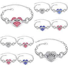 Fashion Women's Diamante Crystal Rhinestone Bangle Cuff Bracelet Jewellery Gifts