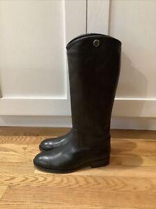 Frye Melissa Button 2 Sz 8 M Women's Leather Tall Shaft Boots Black
